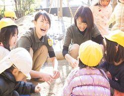 学園の森どろんこ保育園(茨城県つくば市)の様子